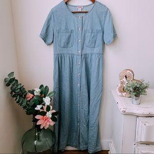 Vintage Chambray Dress 🌿